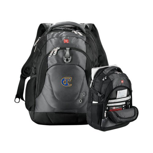 City Tech Wenger Swiss Army Tech Charcoal Compu Backpack 'Official Logo' by CollegeFanGear