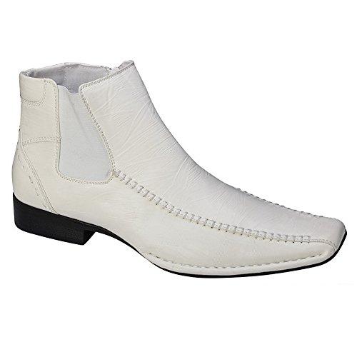 Blancho Män Klädstil Slip-on Loafer White