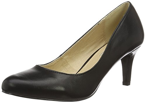 David Escarpins Noir Femme 01 Black P1735a Buffalo C404a 1 PU Bitton Aqq6wH