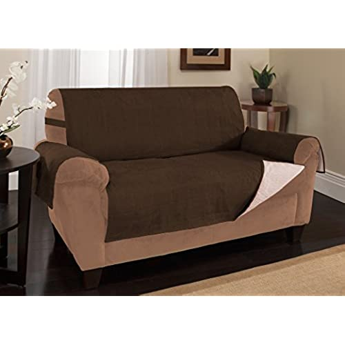 Bon Furniture Fresh New And Improved Anti Slip Grip Sofa And Couch Protector,  Cover, Slipcover, With Stay Put Straps And Water Resistant Microsuede  Fabric (Sofa ...
