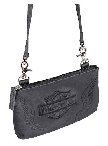 Harley Davidson Womens Winged Shield ZWL7863 BLACK