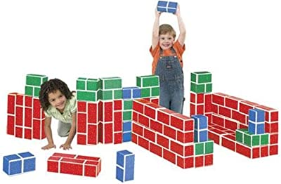Playbrix Cardboard Building Bricks-set Of 54 Assorted by Educational Insights
