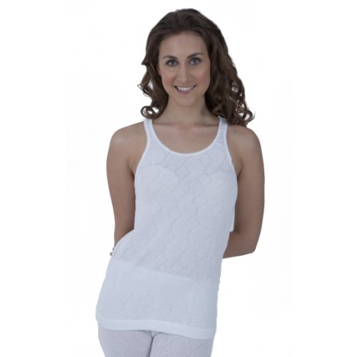 Universal Textiles Ladies Thermal Wear Sleeveless Vest Polyviscose Range (British Made)