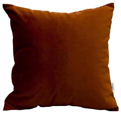 TangDepot Solid Velvet Throw Pillow Cover/Euro Sham/Cushion Sham, Super Luxury Soft Pillow Cases, Many Color & Size options - (18