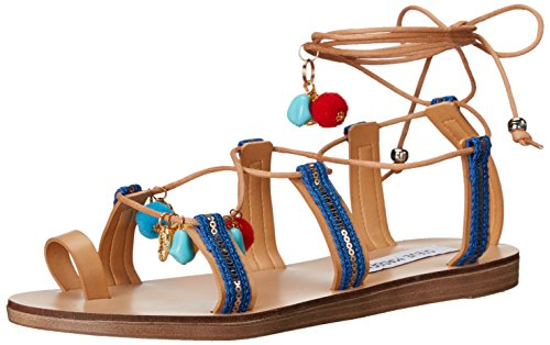 Steve Madden Women Cailin Gladiator Sandal Natural/Multi