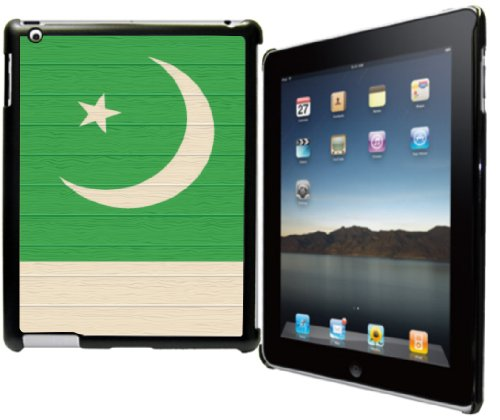 Rikki Knight? Pakistan Flag on Distressed Wood Design Black Snap on Protective Case for Apple iPad? 2 - The New iPad (3rd Generation) - iPad - New Images Pakistani