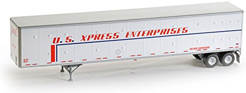 Ho Rtr 53 Duraplate Trailer  Us Xpress  62506