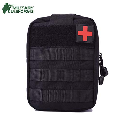 (MILITARY UNIFORMS Compact Tactical MOLLE Rip-Away EMT Medical Pouch IFAK Pouch First Aid Utility Pouch 1000D Nylon EDC Pouch )