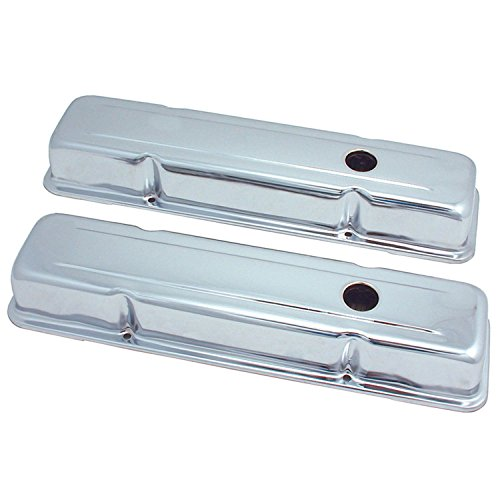 Block Chrome Valve Covers - Spectre Performance 5220 Valve Cover for Small Block Chevy