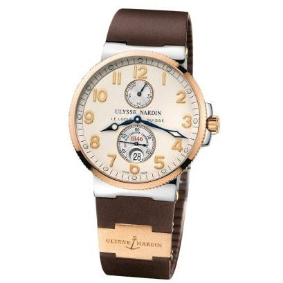 New Ulysse Nardin Maxi Marine Chronometer Steel 18K Rose Gold Brown Watch 265-66-3/60 (Maxi Ulysse Nardin)
