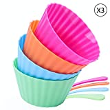 Ice Cream Bowls And Spoons Set,Fruit Salad Sundae Snack Frozen Yogurt Plastic Dessert Bowls With Spoons,Ice Cream Cups For Party(12pcs a set) Kids Birthday Christmas Halloween and Thanksgiving Gift