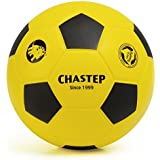 "Chastep 8"" Foam Soccer Ball Perfect for Kids or Beginner Play and Excercise Soft Kick & Safe,Yellow/Black"