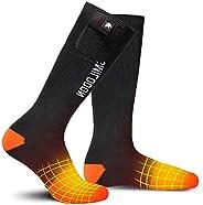 Smilodon Heated Socks, Men/Women, Washable, Winter Knee-High Thick Thermal Socks, Rechargeable 7.4v 2200mAh Li