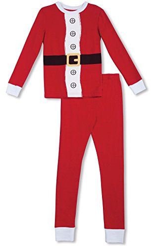 Price comparison product image PajamaGram Santa Suit Pajamas For Christmas With Long-Sleeved Top,  Red,  4T