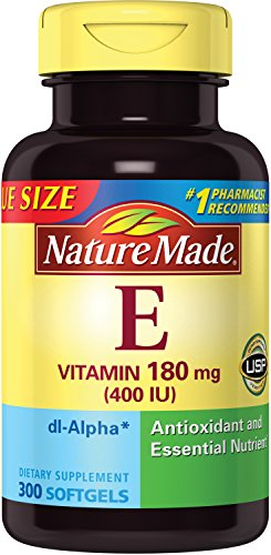 Nature Made Vitamin E 400 IU Softgels, 300 ct