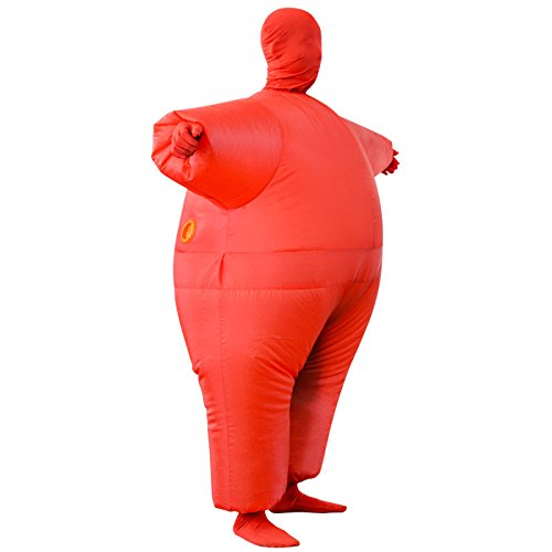 Inflatable Costume Full Bodycon chub Suit Cosplay Halloween Funny Fancy Dress Blow up Party Toy for Adult by EasyLiving (Image #3)