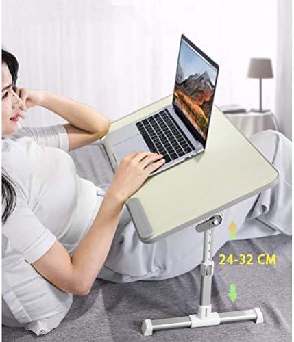 調節可能なラップトップベッドテーブルラップデスク、ソファとソファ用のポータブルベッドトレイテーブル、朝食用ベッドトレイ折りたたみ式ドミトリーテーブルノートスタンド読書用ホルダー