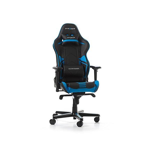 colore: Blu DXRacer Racing Pro R131-NB Sedia da gioco 56 x 65 x 138 cm in pelle PU