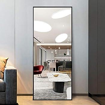 WONSTART 42 x 14 Full Length Mirror Bedroom Thin Aluminum Frame Floor Mirror Standing or Wall-Mounted Mirror for Bedroom