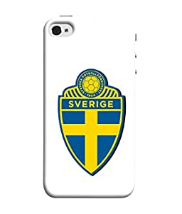 Colorking Football Sweden 08 White shell case cover for Apple iphone 5 / 5s / SE
