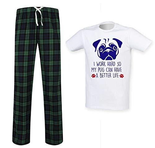 vida que limitados Hombres una pueda Segundo para tener Pug de cambio Conjunto duro escoceses 60 Trabajo pijamas de mejor D imagen OnAwqZnxv