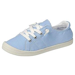 Forever Link Women's Classic Slip-On Comfort Fashion Sneaker, Lt. Blue, 7.5