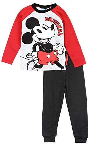 Disney Boys Size 4-7 Mickey Mouse Original Fleece Top Sweatpant Set (5)