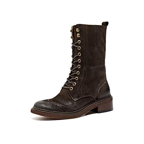 Vintage Darkcoffee Bottines Lisses De Martin Zpedy Moto Style Boots Britannique qwHFnpzX