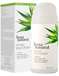 Retinol Moisturizer Anti Aging Cream - Anti Wrinkle Lotion - Face & Neck - Helps Reduce Appearance of Wrinkles, Crows Feet, Circles & Fine Lines - With Vitamin C Hyaluronic Acid - InstaNatural - 3.4oz