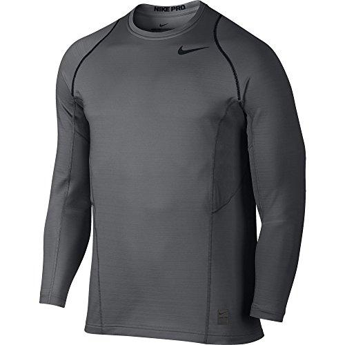 Men's Nike Pro Hyperwarm Top Dark Grey/Black Size X-Large