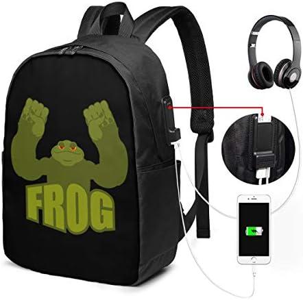 ビジネスリュック Frog And Toad メンズバックパック 手提げ リュック バックパックリュック 通勤 出張 大容量 イヤホンポート USB充電ポート付き 防水 PC収納 通勤 出張 旅行 通学 男女兼用