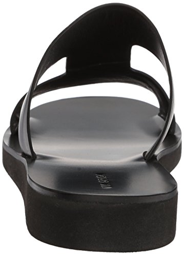 Via Flat Black Sandal Spiga Women's Leather Blanka raqxvrf