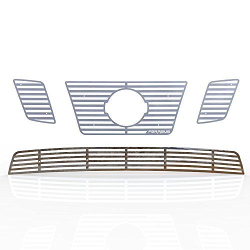 2009-2015 Nissan Frontier TRK-135-01-Chrome-a Ferreus Industries Grille Insert Guard Horizontal Billet Polished Stainless fits