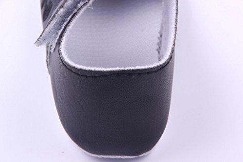Lukis Baby Mädchen Gestickte Ballerina Festliche Tauf Schuhe Lauflernschuhe Schwarz Fußlänge12cm