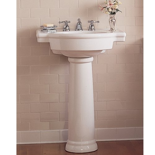 033056615843 - American Standard 0282.008.020 Retrospect Pedestal Console Sink Top with 8-Inch Faucet Spacing, White carousel main 6