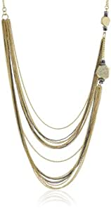 """Kenneth Cole New York """"Springtime Rose"""" Pave Geometric Bead Multi-Chain Necklace, 20"""""""
