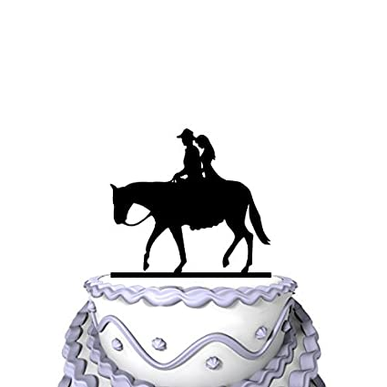 Personalised Horse and Rider Silhouette Card Cake topper Birthday
