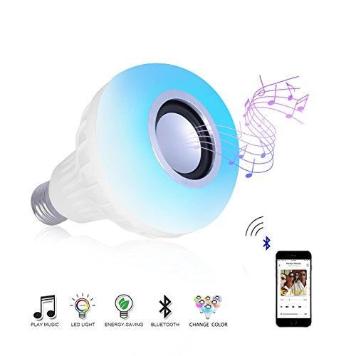 LED Wireless Bluetooth Bulb Light Speaker RGB Phone Music Control Play Lamp CY