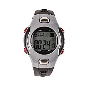 HealthSmart Fitness Digital Heart Rate Monitor Watch, For Men and Women, Gray