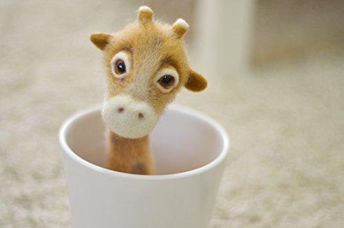 Needle felted dog, Giraffe, Felted toy, Felted doll, Decorative figurine, Needle felting, Ecco friendly ()