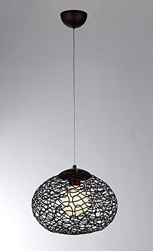 Whse of Tiffany 0446-1 Aaliyah 1-Light Glass Pendant Lamp, 12