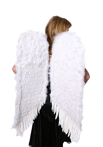 Zucker Feather Products Decorative Feather Angel Wings, Large, White (Large White Feather Angel Wings)