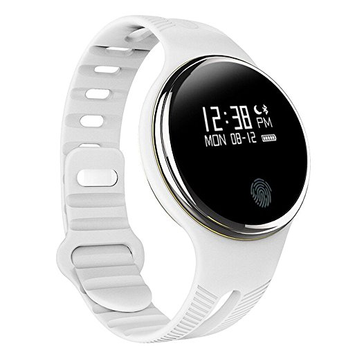 Cocare E07 New Design Waterproof Bluetooth 4.0 Smartwatch Wristband Band Smart Bracelet With Pedometer Watch For Android,IOS-White