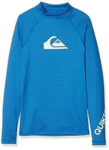 Quiksilver All Time L/SL Surf tee, Niños, Azul Electrico, 5