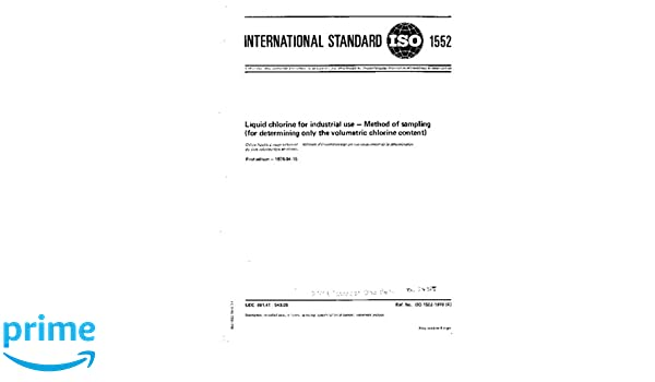 Iso 15521976 Liquid Chlorine For Industrial Use Method Of