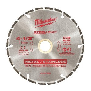 Milwaukee 4-1/2 in. Steel Head Diamond Cut Off Blade ()