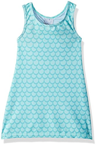 Flap Happy Little Girls' UPF 50+ Sunset Swim Cover up, Ocean Tails, 6 Cover Ups Children Sun Clothing