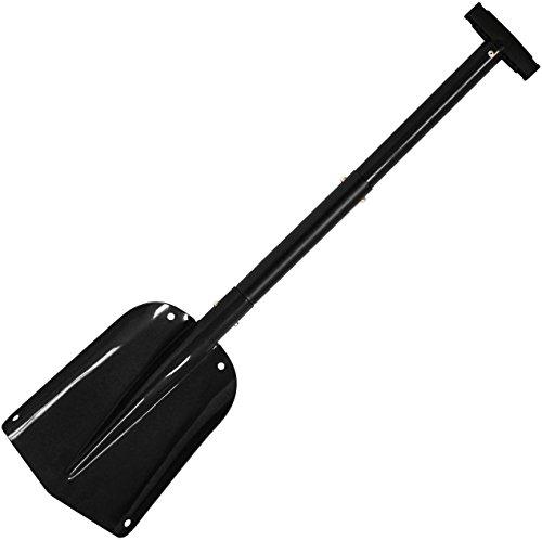 Cartman Sport Utility Scalable Camping Snow Shovel for Car, Portable Aluminium Shovel, Snow Shovel (Black) (Safety Shovel)