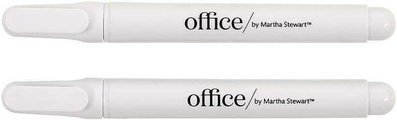 Office by Martha Stewart 1773310 Office By Martha Stewart Liquid Chalk Markers 2 Pack White (28647)
