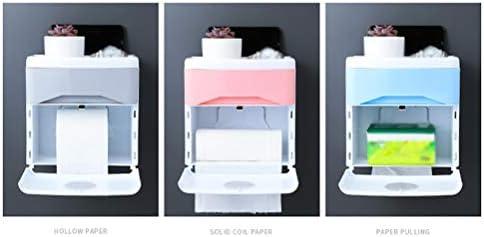 トイレットペーパーホルダー、引き出し付きの壁に取り付けられた防水ティッシュボックス電話棚収納ラックポータブルトイレットペーパーホルダー、バスルームペーパーロールホルダー
